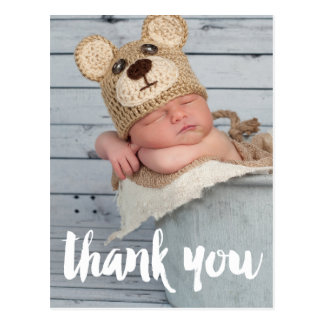 Thank You Photo Baby Birth Announcement Postcard