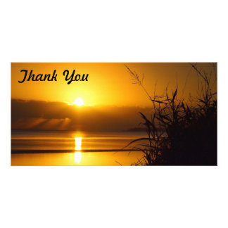 Thank You photo card - Coastal sunrise