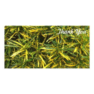 Thank You photo card - Croton leaves
