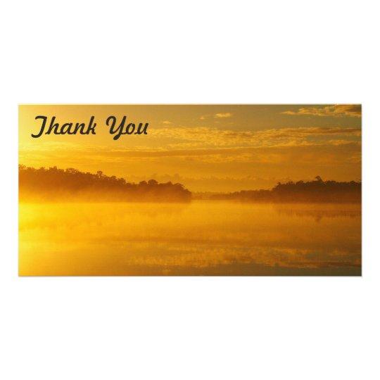 Thank You photo card - Golden Sunrise