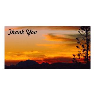 Thank You photo card - Mt Wheeler sunset