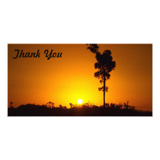 Thank You photo card - outback sunset