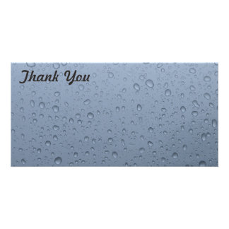 Thank You photo card - Raindrops