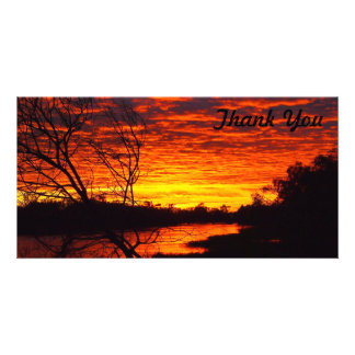 Thank You photo card - Thomson River sunrise