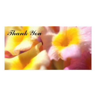 Thank You photo card with Lantana flowers