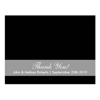 Thank you photo postcard for wedding photograph