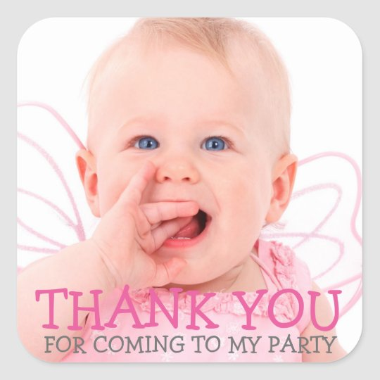 Thank You Photo Sticker for Baby or Kids Party
