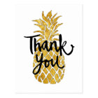 thank you pineapple graphic postcard