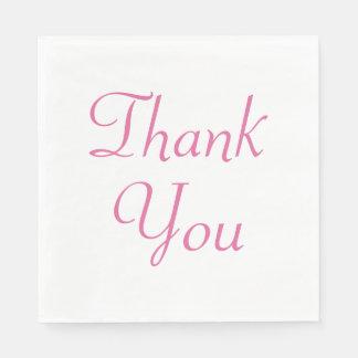 Thank You Pink Party Napkins Disposable Napkin
