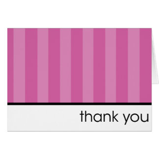 Thank You - Pink Stripes Greeting Card
