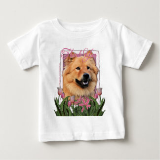 Thank You - Pink Tulips - Chow Chow - Cinny Tee Shirt