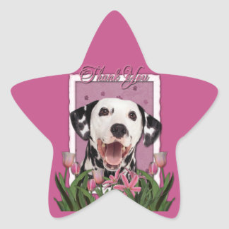 Thank You - Pink Tulips - Dalmatian Sticker