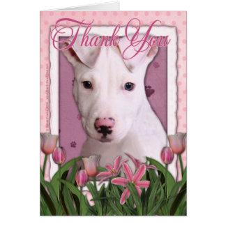 Thank You - Pitbull Puppy - Petey Greeting Card