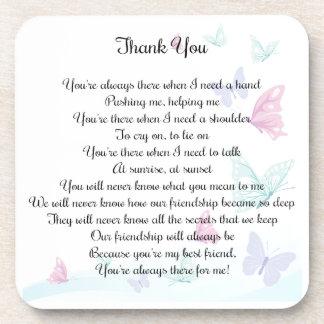 Thank You Poem Coaster