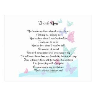Thank You Poem Postcard