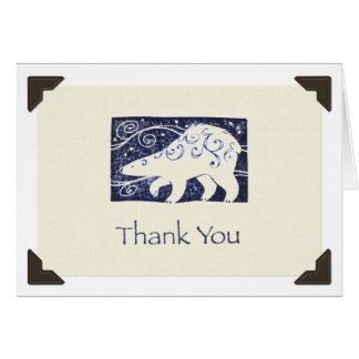 """Thank You"" Polar Bear Notecard"
