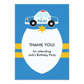 Thank You Police Theme Card