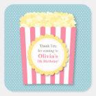 Thank You Popcorn Kids Birthday Party Stickers