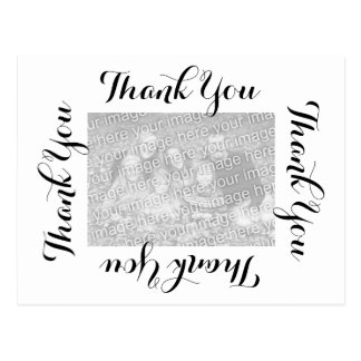 Thank You Postcard Black Script with Photo