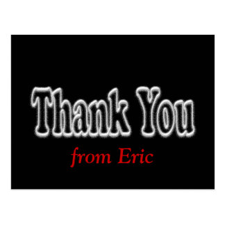Thank You Postcard in Black - pesonalize