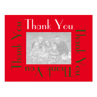 Thank You Postcards with photo - Holiday Colours