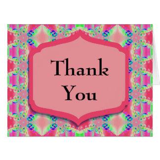 Thank You Pretty Pink Pattern Card