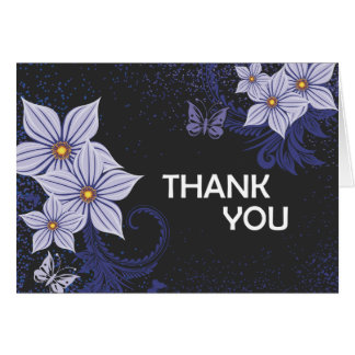 Thank You (Purple Floral) Card