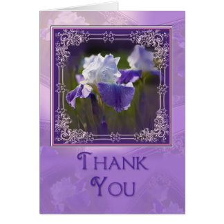 Thank you - Purple Iris Stationery Note Card