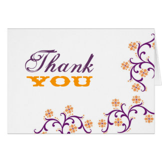Thank-You Purple-Orange Card