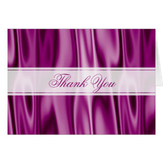 Thank You:  Purple Orchid Faux Satin Fabric Card