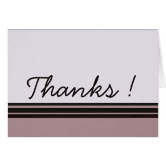 Thank you purple with black card