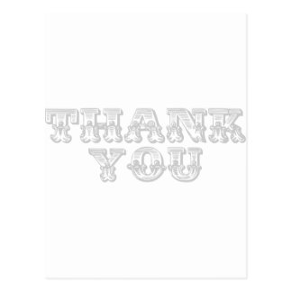 Thank You Quirky Antique Style Postcard