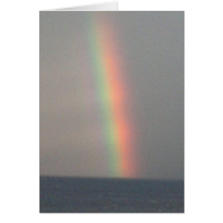 Thank you rainbow over ocean note card