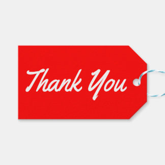 Thank You Red And White Gift Tags Pack Of Gift Tags