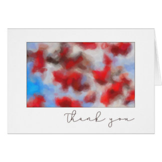 Thank you Red Crabapples Abstract Art Card
