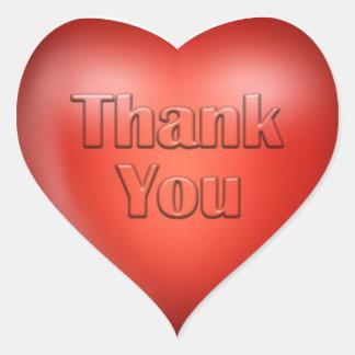 Thank You Red Heart Heart Sticker