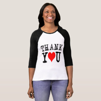 Thank You Red Heart T-Shirt