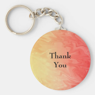 Thank You Red Yellow Texture Keychain