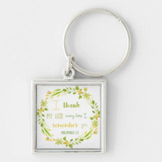 thank you remembrance bible verse keychain