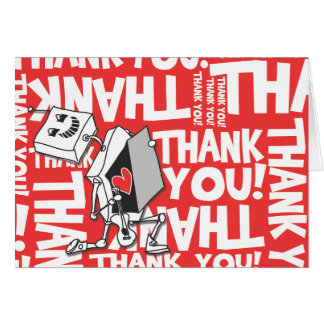 Thank you Robot Greeting Card