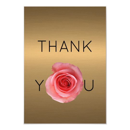 THANK YOU ROSE GOLD MINIMAL CUSTOM CARD