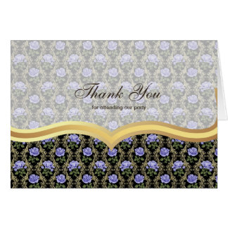 Thank You Roses on Antique gold Greeting Card