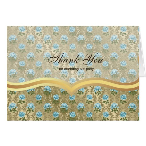 Thank You Roses on Antique gold Cards