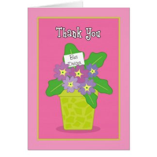 Thank you School Bus Driver Greeting Card