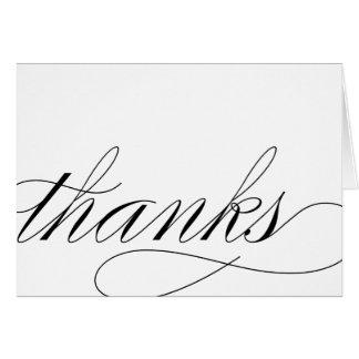 THANK YOU - SCRIPT CARD
