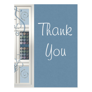 Thank You Sewing Addict Postcard
