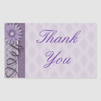Thank You Sewing Addict Rectangle Sticker