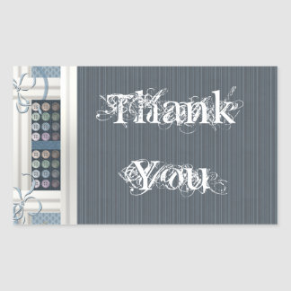 Thank You Sewing Addict Rectangle Stickers
