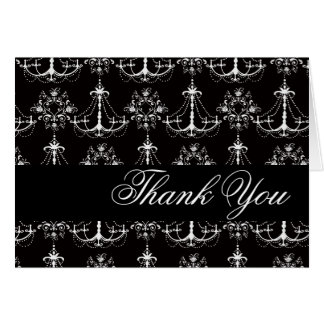 Thank You Shabby Chic Chandelier Blank Notecard