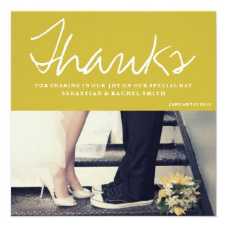 "THANK YOU - SIGNATURE LOVE 5.25"" SQUARE INVITATION CARD"